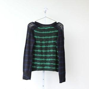 Raquel Allegra Sweaters - Raquel Allegra Tie Dye Cashmere Sweater